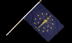 USA Indiana Hand Waving Flag - 12 x 18 inch