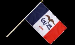 USA Iowa Hand Waving Flag - 12 x 18 inch