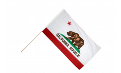 USA California Hand Waving Flag