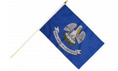 USA Louisiana Hand Waving Flag - 12 x 18 inch