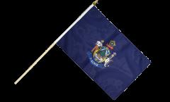 USA Maine Hand Waving Flag - 12 x 18 inch