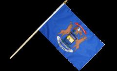 USA Michigan Hand Waving Flag - 12 x 18 inch