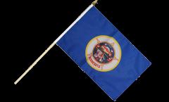 USA Minnesota Hand Waving Flag - 12 x 18 inch