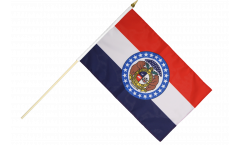 USA Missouri Hand Waving Flag - 12 x 18 inch