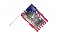 USA with Indian Chief Hand Waving Flag - 2 x 3 ft.