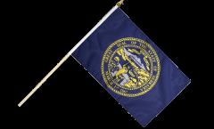 USA Nebraska Hand Waving Flag - 12 x 18 inch