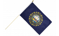 USA New Hampshire Hand Waving Flag - 12 x 18 inch