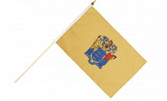 USA New Jersey Hand Waving Flag
