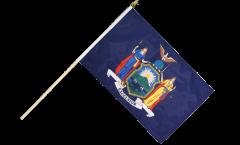 USA New York Hand Waving Flag - 12 x 18 inch