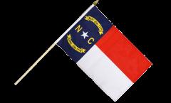 USA North Carolina Hand Waving Flag - 12 x 18 inch