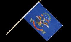 USA North Dakota Hand Waving Flag - 12 x 18 inch