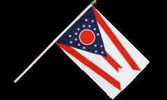 USA Ohio Hand Waving Flag - 12 x 18 inch