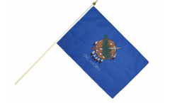 USA Oklahoma Hand Waving Flag - 12 x 18 inch