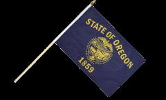 USA Oregon Hand Waving Flag - 12 x 18 inch