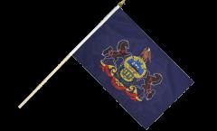 USA Pennsylvania Hand Waving Flag - 12 x 18 inch