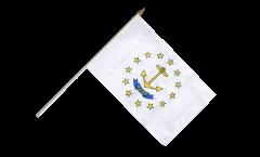 USA Rhode Island Hand Waving Flag - 12 x 18 inch