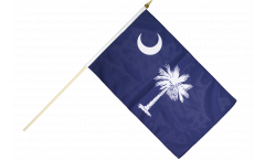 USA South Carolina Hand Waving Flag - 12 x 18 inch