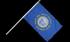 USA South Dakota Hand Waving Flag - 12 x 18 inch