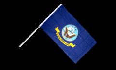 USA US Navy Hand Waving Flag - 2 x 3 ft.