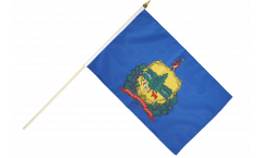 USA Vermont Hand Waving Flag - 12 x 18 inch