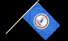USA Virginia Hand Waving Flag - 12 x 18 inch