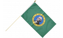 USA Washington Hand Waving Flag - 12 x 18 inch