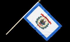 USA West Virginia Hand Waving Flag - 12 x 18 inch