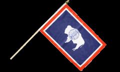 USA Wyoming Hand Waving Flag - 12 x 18 inch