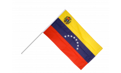 Venezuela 8 stars with coat of arms Hand Waving Flag