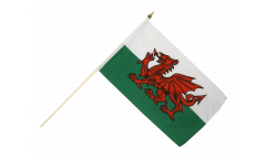 Wales Hand Waving Flag - 12 x 18 inch