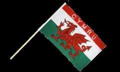 Wales CYMRU Hand Waving Flag