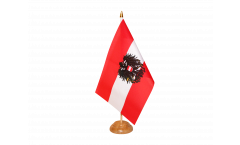 Austria with eagle Table Flag