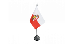 Austria Upper Austria Table Flag - 3.95 x 5.9 inch