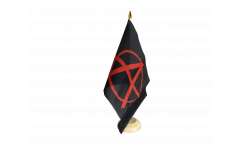 Anarchy red Table Flag - 5.9 x 8.65 inch