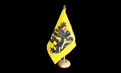 Belgium Flanders Table Flag