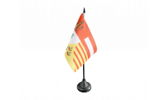 Belgium Liège Table Flag - 3.95 x 5.9 inch