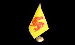 Belgium Wallonia Table Flag