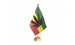 Cannabis Reggae Table Flag - 5.9 x 8.65 inch