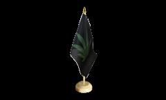 Cannabis black Table Flag - 5.9 x 8.65 inch