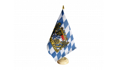 Germany Bavaria Freistaat Bayern Table Flag