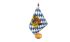 Germany Bavaria with lion Table Flag