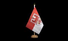 Germany Brandenburg Table Flag