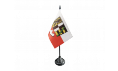 Germany Upper Franconia Table Flag - 3.95 x 5.9 inch