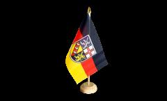 Germany Saarland Table Flag