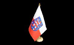 Germany Thuringia Table Flag