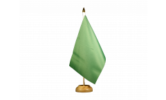 Unicolor green Table Flag