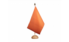 Unicolor orange Table Flag