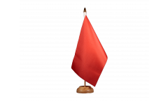 Unicolor red Table Flag