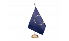 European Union EU with 27 stars Table Flag - 5.9 x 8.65 inch