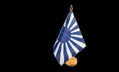 Fan blue white Table Flag - 5.9 x 8.65 inch